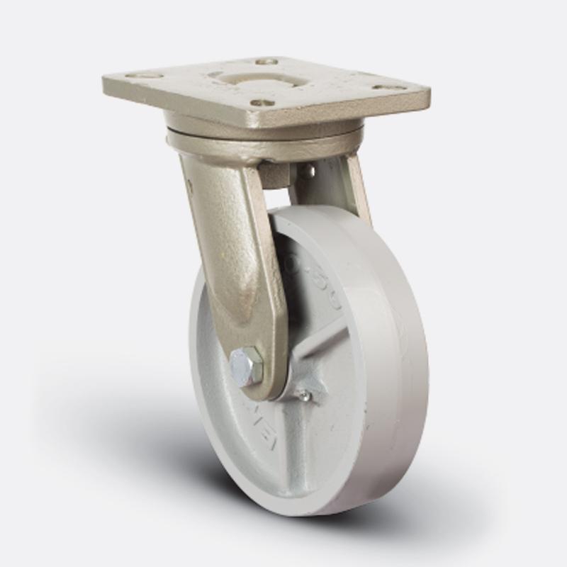 8202 DAR 200 | 200 mm Plated Cast Iron Roller Bearings Swivel Caster