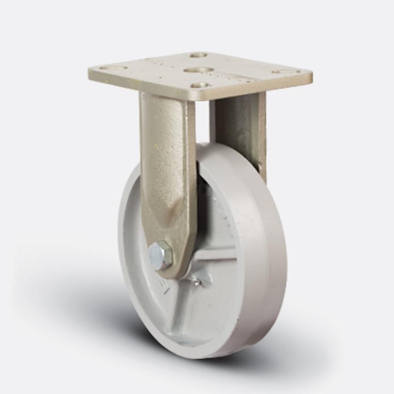 8205 DAR 150 | 150 mm Çaplı Tablalı Döküm Lama Gövdeli Rulmanlı Sabit Teker