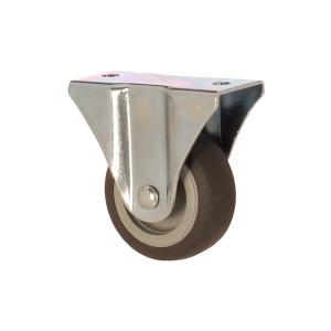 2105 MEB 050 | 50 mm Çaplı Tablalı Moblen (PP) Üzeri Termoplastik Kaplı Burçlu Sabit Teker