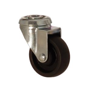 2400 MHB 075 | 75 mm Çaplı Delikli Moblen (PP) Burçlu Döner Teker