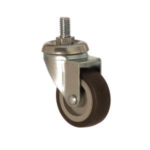 2401 MEB 050 | 50 mm Çaplı Civatalı Moblen (PP) Üzeri Termoplastik Kaplı Burçlu Döner Teker