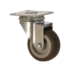 2402 MEB 075 | 75 mm Plated Covered by Thermoplastic (TPE) on Polypropylene (PP) Bushing Swivel Caster
