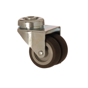 2600 MEB 050 | 50 mm Bolt Hole Covered by Thermoplastic (TPE) on Polypropylene (PP) Double Wheel Bushing Swivel Caster