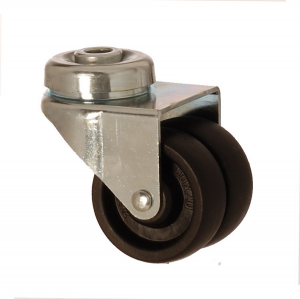 2600 MHB 050 | 50 mm Bolt Hole Polypropylene (PP) Double Wheel Bushing Swivel Caster