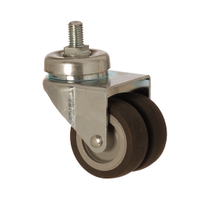 2601 MEB 050 | 50 mm Bolted Covered by Thermoplastic (TPE) on Polypropylene (PP) Double Wheel Bushing Swivel Caster