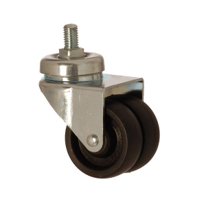 2601 MHB 050 | 50 mm Bolted Polypropylene (PP) Double Wheel Bushing Swivel Caster