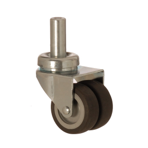 2607 MEB 050 | 50 mm Pinned Covered by Thermoplastic (TPE) on Polypropylene (PP) Double Wheel Bushing Swivel Caster