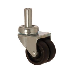 2607 MHB 050 | 50 mm Pinned Polypropylene (PP) Double Wheel Bushing Swivel Caster