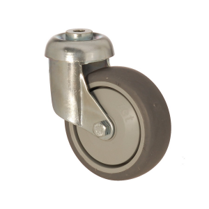 3300 MER 100 | 100 mm Bolt Hole Covered by Thermoplastic (TPE) on Polypropylene (PP) Roller Bearings Swivel Caster