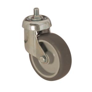 3301 MEB 125 | 125 mm Çaplı Civatalı Moblen (PP) Üzeri Termoplastik Kaplı Burçlu Döner Teker