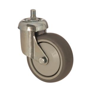 3301 MER 125 | 125 mm Çaplı Civatalı Moblen (PP) Üzeri Termoplastik Kaplı Rulmanlı Döner Teker