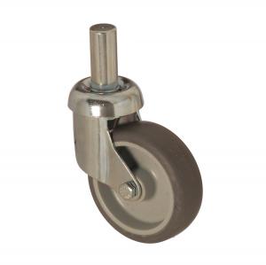 3307 MEB 125 | 125 mm Çaplı Pimli Moblen (PP) Üzeri Termoplastik Kaplı Burçlu Döner Teker