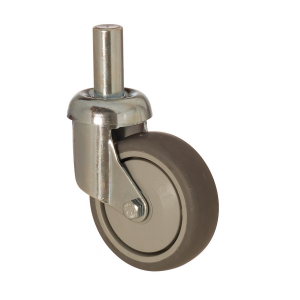 3307 MER 125 | 125 mm Pinned Covered by Thermoplastic (TPE) on Polypropylene (PP) Roller Bearings Swivel Caster