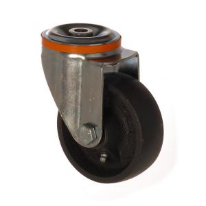 4100 DAB 080 | 80 mm Çaplı Delikli Döküm Burçlu Döner Teker
