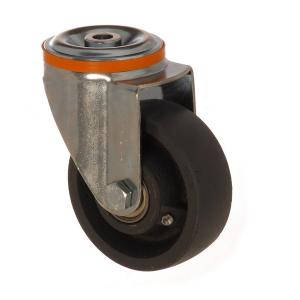 4100 DAR 125 | 125 mm Çaplı Delikli Döküm Rulmanlı Döner Teker