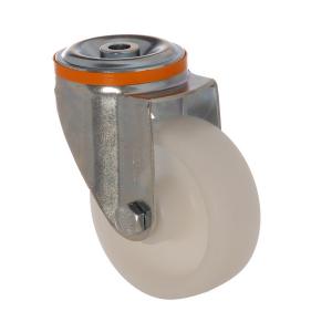 4100 MAB 100 | 100 mm Çaplı Delikli Moblen (PP) Burçlu Döner Teker