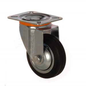 4112 SLB 150 | 150 mm Çaplı Tablalı Sac Cant Üzeri Dolgu Lastik Burçlu Döner Teker