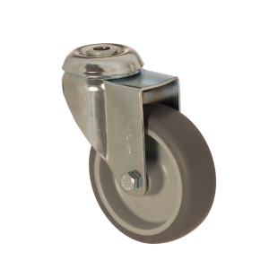 4400 MEB 125 | 125 mm Bolt Hole Covered by Thermoplastic (TPE) on Polypropylene (PP) Bushing Swivel Caster