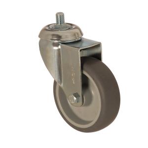 4401 MEB 100 | 100 mm Çaplı Civatalı Moblen (PP) Üzeri Termoplastik Kaplı Burçlu Döner Teker