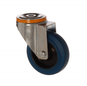4500 MBB 100 | 100 mm Bolt Hole Rubber on Polypropylene (PP) Bushing Swivel Caster