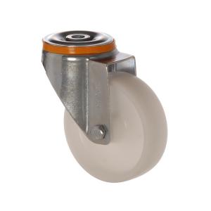 4500 MHB 100 | 100 mm Çaplı Delikli Moblen (PP) Burçlu Döner Teker