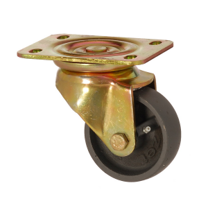 6102 DAB 055 | 55 mm Plated Cast Iron Bushing Swivel Caster