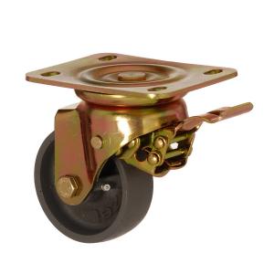 6102 DAB 080 F5 | 80 mm Çaplı Tablalı Döküm Burçlu Frenli Döner Teker