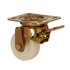 6102 PAR 125 F5 | 125 mm Plated Polyamide (PA6) Roller Bearings Swivel Caster with Brake