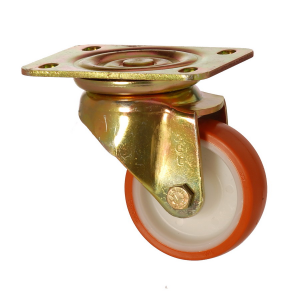 6102 PUB 080 | 80 mm Plated Covered by Polyurethane on Polyamide (PA6) Bushing Swivel Caster