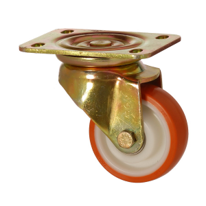 6102 PUR 100 | 100 mm Plated Covered by Polyurethane on Polyamide (PA6) Roller Bearings Swivel Caster