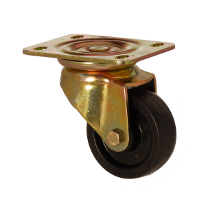 6102 PYB 100 | 100 mm Plated Incombustible Polyamide (PA66) Bushing Swivel Caster