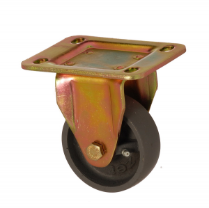 6105 DAB 100 | 100 mm Plated Cast Iron Bushing Fixed Caster