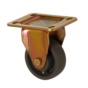 6105 DAR 100 | 100 mm Plated Cast Iron Roller Bearings Fixed Caster