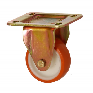 6105 PUB 125 | 125 mm Plated Covered by Polyurethane on Polyamide (PA6) Bushing Fixed Caster