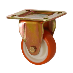 6105 PUR 100 | 100 mm Plated Covered by Polyurethane on Polyamide (PA6) Roller Bearings Fixed Caster
