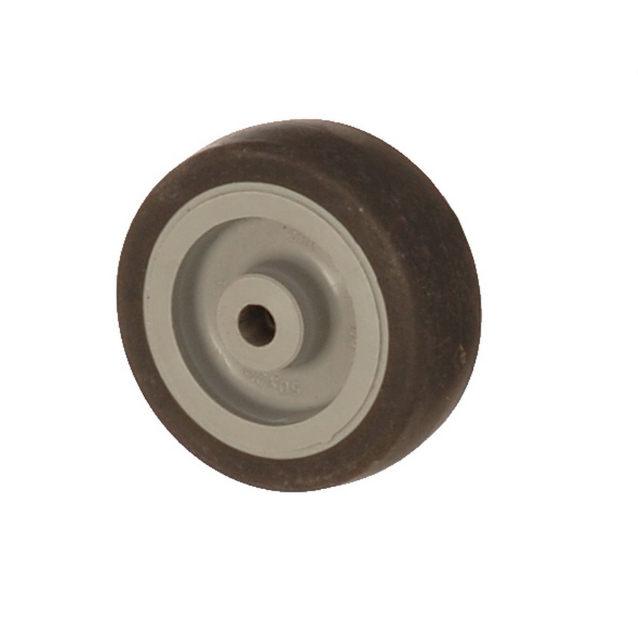 MEB 075*25 | 75 mm Covered by Thermoplastic (TPE) on Polypropylene (PP) Bushing Wheel