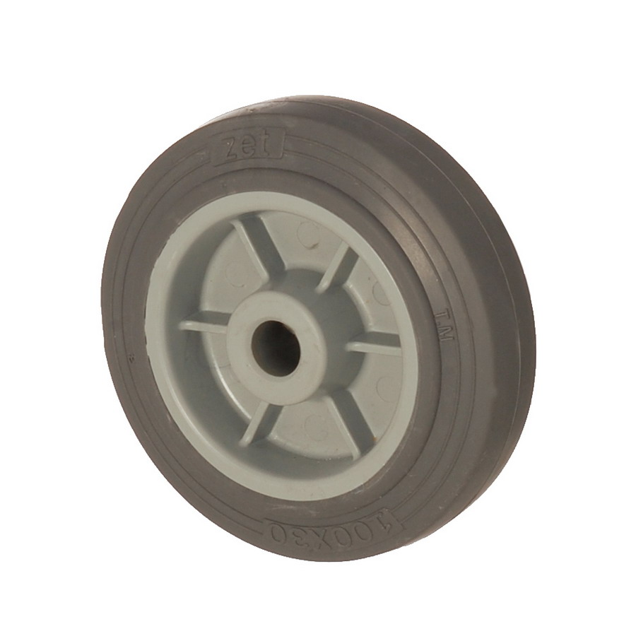 MEB 100*30 | 100 mm Covered by Thermoplastic (TPE) on Polypropylene (PP) Bushing Wheel
