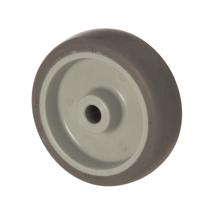 MEB 100*32 | 100 mm Covered by Thermoplastic (TPE) on Polypropylene (PP) Bushing Wheel