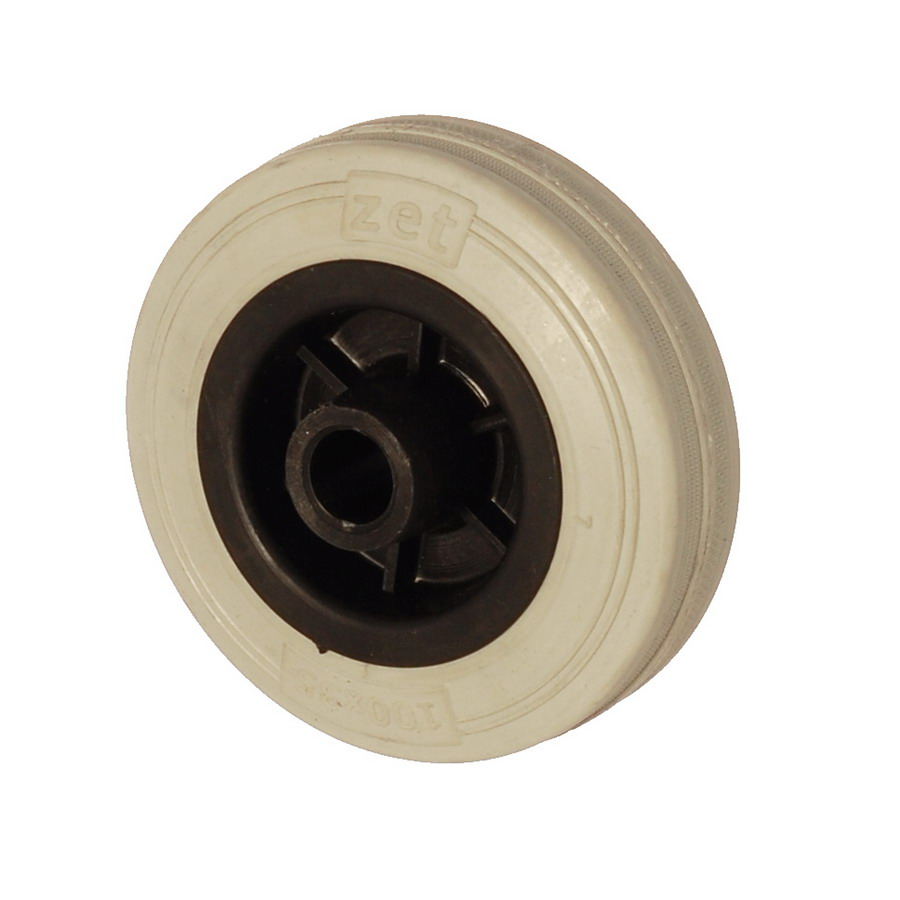 MGB 150*45 | 150 mm Çaplı Moblen (PP) Üzeri Gri Dolgu Lastik Burçlu Yedek Makara