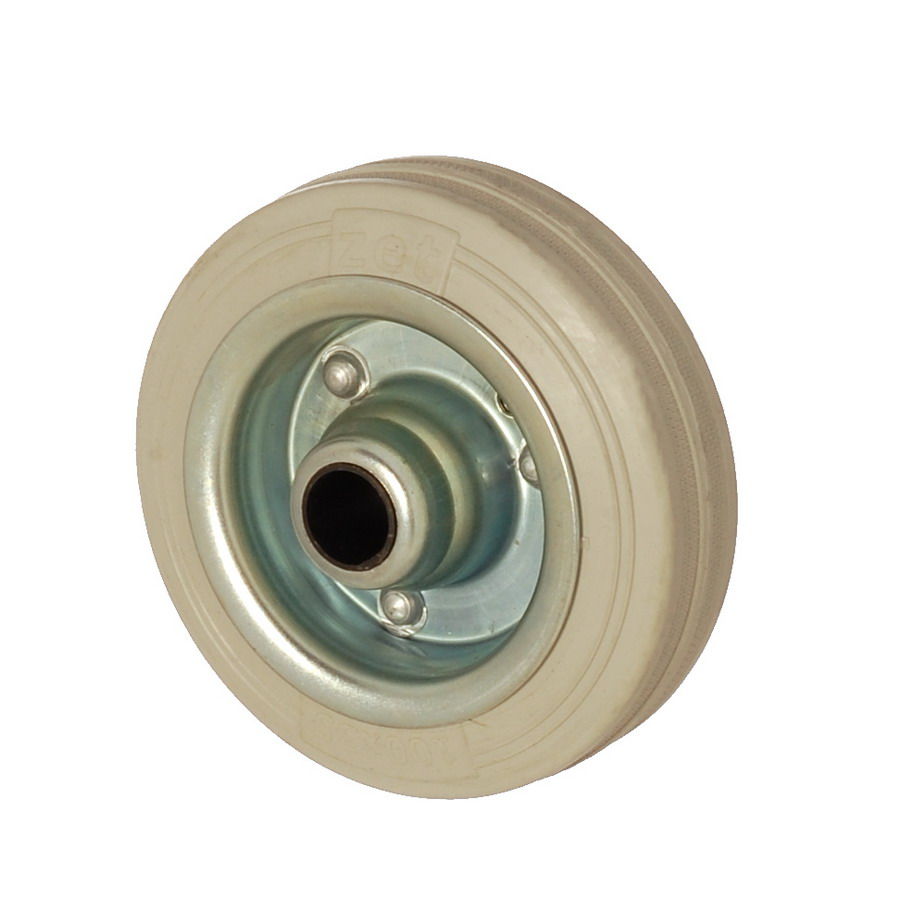 SGB 100*35 | 100 mm Çaplı Sac Cant Üzeri Gri Dolgu Lastik Burçlu Yedek Makara