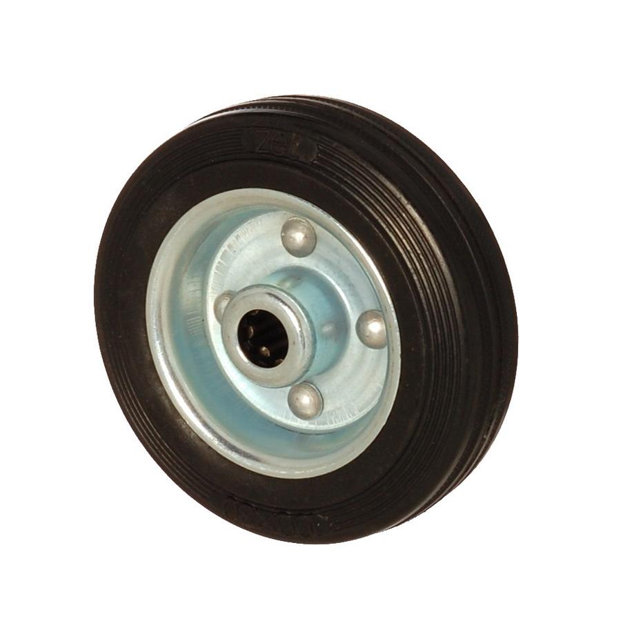 SLB 080*25 | 80 mm Çaplı Sac Cant Üzeri Dolgu Lastik Burçlu Yedek Makara