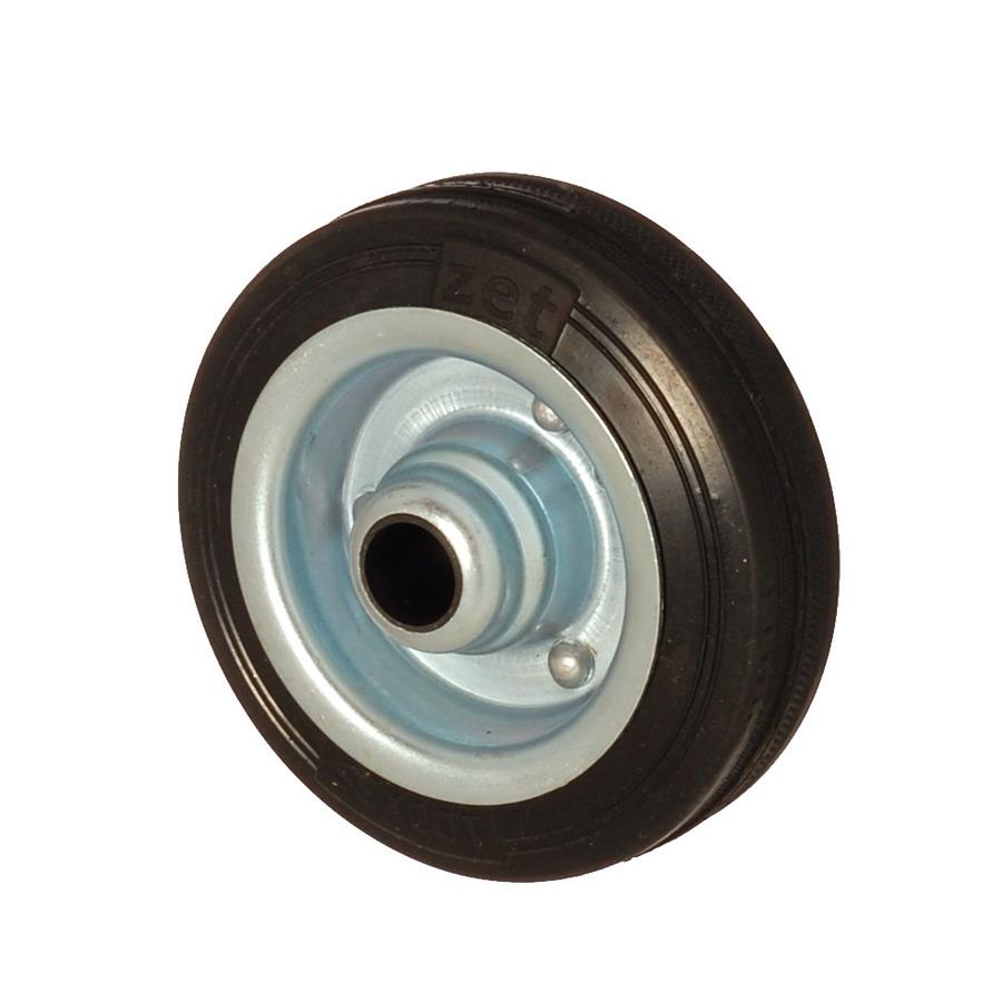 SLB 125*40 | 125 mm Çaplı Sac Cant Üzeri Dolgu Lastik Burçlu Yedek Makara